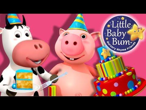Happy Birthday Song   Nursery Rhymes   By LittleBabyBum!