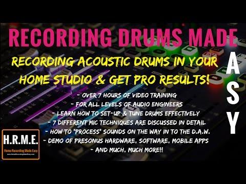Presonus Studio One 3-How To-Recording Drums - Made Easy Sereis Footage