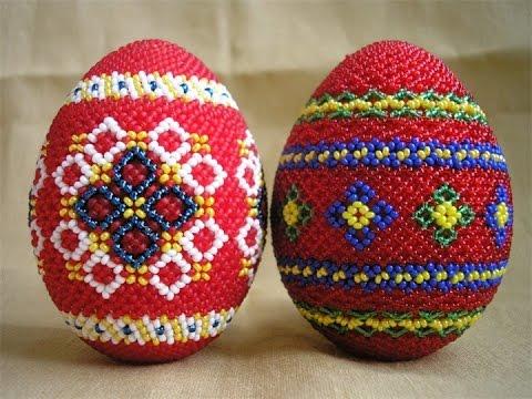 Пасхальные яйца из бисера (схемы и инструкции)