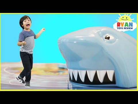 Thumbnail: Shark Chase Family Fun Board Games for Kids with Eggs Surprise Toys Opening