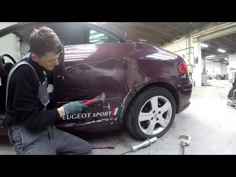 Car repair #5: How to fix an extreme dent. (Peugeot 307 convertible).