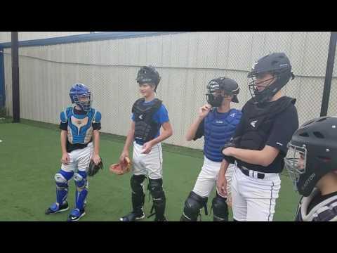 Catchers 4 Corner Drill To Improve Blocking And Leg Strength