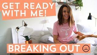 Get Ready with Me! Pimple-y Skin Day Routine | Ingrid Nilsen thumbnail