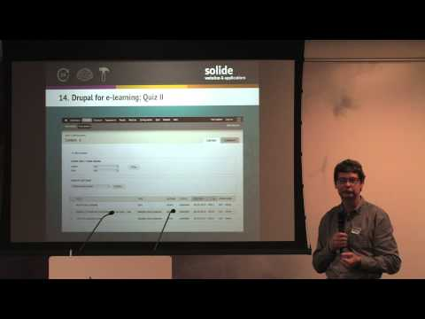 T-DOSE 2013 Open Source, Eric Sol, Drupal for e-learning