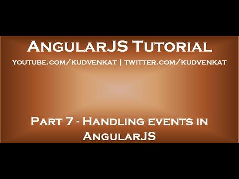 Handling events in AngularJS