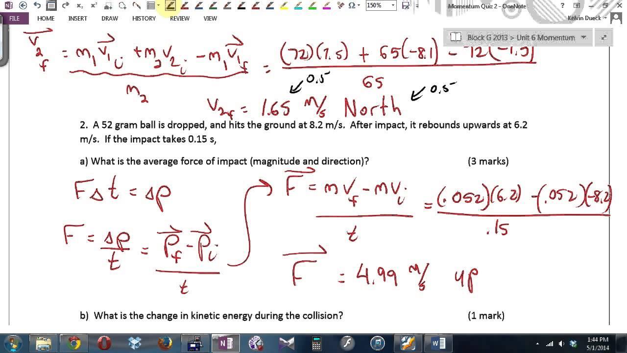 Physics 11 u6l4 answers to momentum quiz 2 youtube physics 11 u6l4 answers to momentum quiz 2 buycottarizona