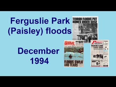 FERGUSLIE PARK (Paisley) FLOODS DECEMBER 1994 - Renfrewshire, Scotland