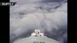 To the space! On-board camera shows launch of Soyuz MS-11