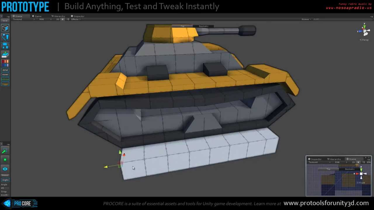 Building a stylized tank with prototype for unity 3d youtube for Design your own house game 3d
