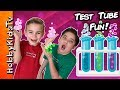 TEST TUBE Experiments Surprise Toys SCIENCE Sand Worms, Jelly Crystals Children Fun HobbyKidsTV