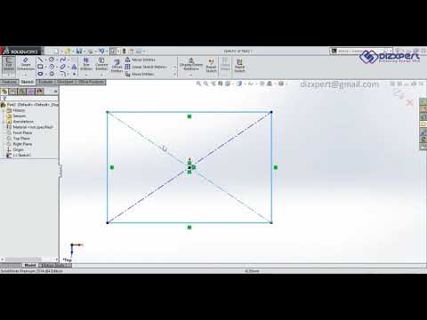 SolidWorks Tutorial 05 | Drawing Rectangle in SolidWorks Sketch thumbnail