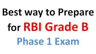 how to prepare for rbi grade b phase 1 exam
