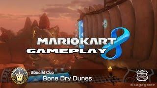 Mario Kart 8 - Bone Dry Dunes  - Special Cup - Baby Mario Gameplay [ HD ]