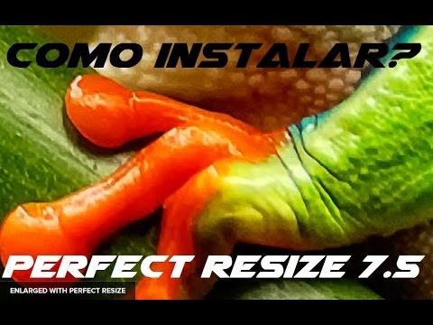 Instalar Perfect Resize 7.5 sin errores - Plugin Photoshop para agrandar fotos sin perder calidad