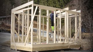 Building A Norwegian Tinyhouse Frame In 5 Days Diy