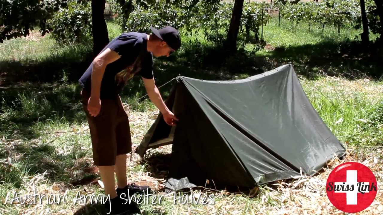 & Make a tent with two Austrian Army Shelter Halves - YouTube