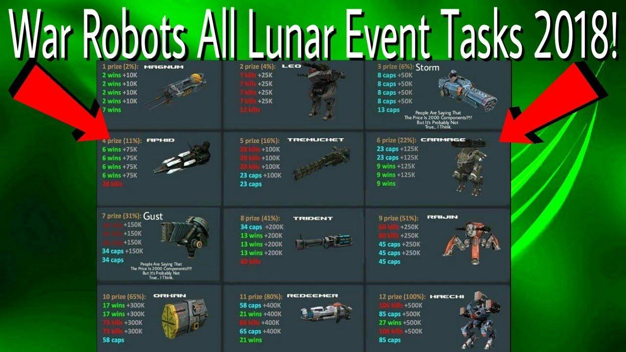 War Robots - All Lunar Event Tasks 2018 #1