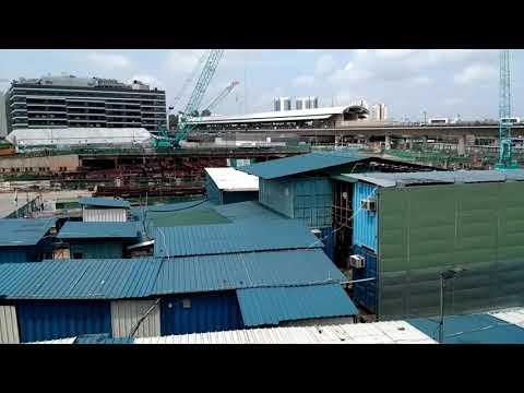 SMRT Thomson East Coast line under construction at Woodlands live!!! (Crane Moves!!!)