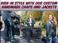 Custom Deerskin Motorcycle Jackets For Men Sturgis   Deadwood sd 75th