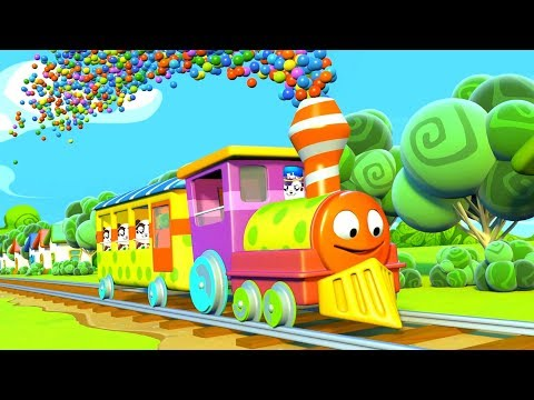 Learn Colors with Train Paint Finger Family Nursery Rhymes Song for Kids - Panda Bo