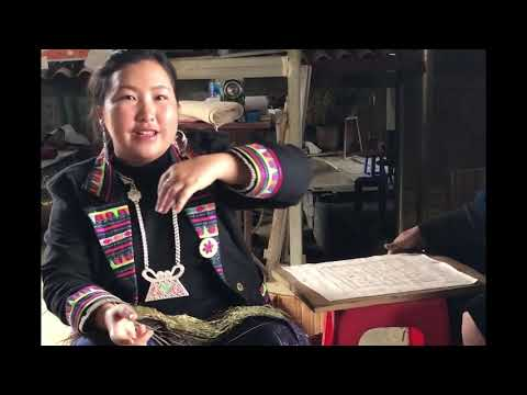 Traditional Hemp Fabric making process step by step narrated by Shu Tan