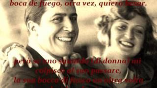 POR UNA CABEZA - Carlos Gardel ✿ traduzione