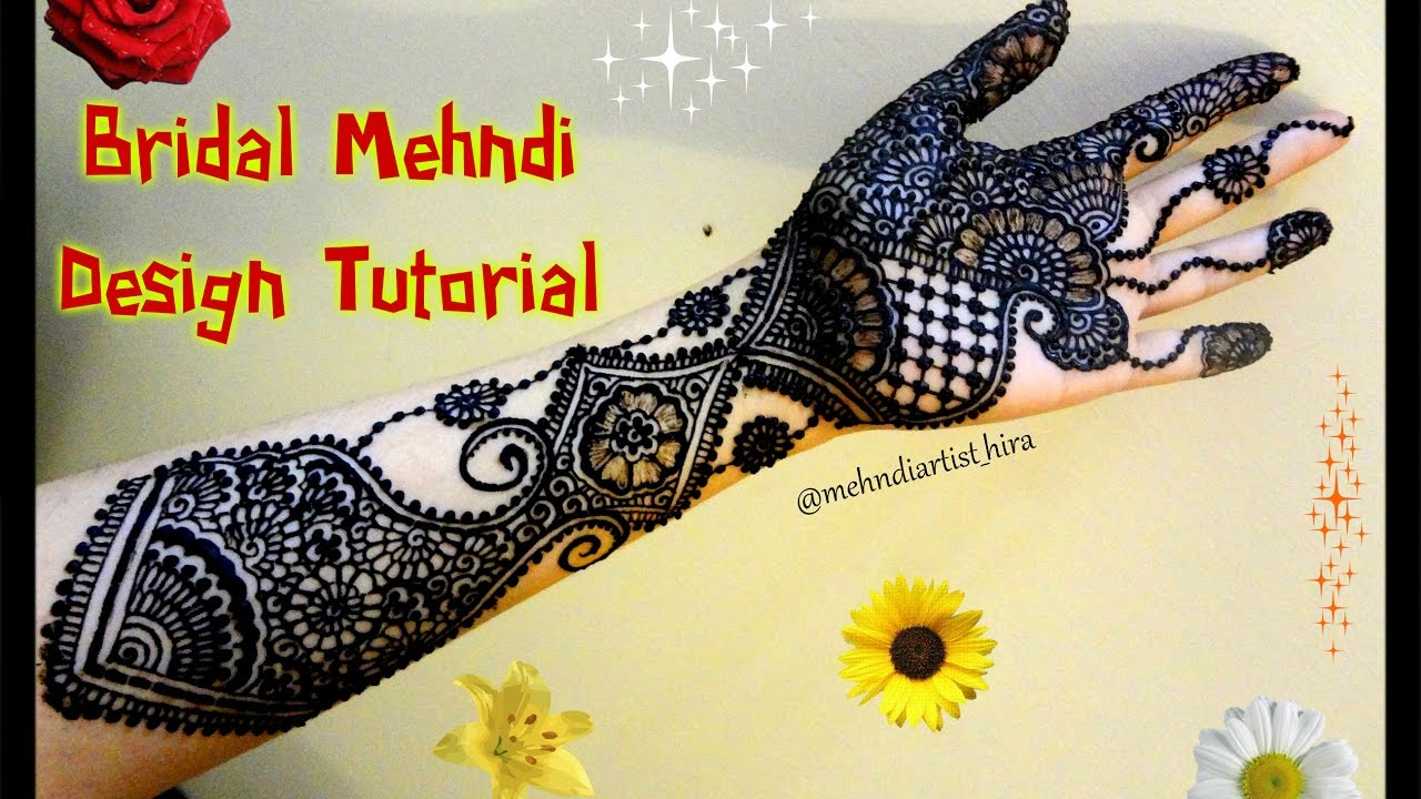 Mehndi Party N Wedding : How to apply easy simple bridal mehndi designs for hands tutorial
