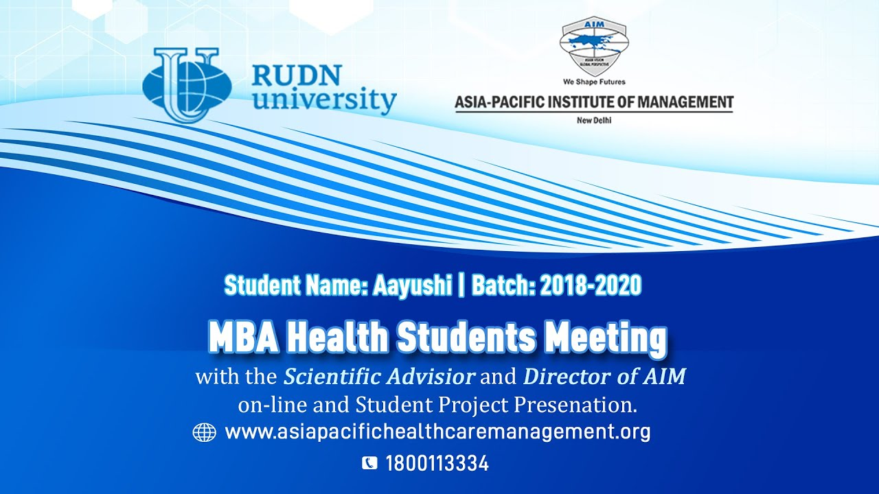 Download Aayushi | MBA in Healthcare Student | Batch 2018-2020 | Asia-Pacific Institute of Management