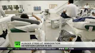 Immigration detainees go on hunger strike to protest ICE deportations