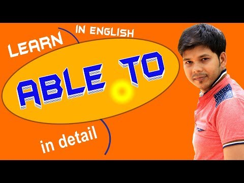 ABLE TO IN ENGLISH SPEAKING