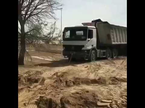 Sheikh Hamdan Rescues lorry stuck in Dubai desert. This is wow.