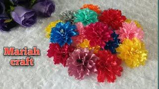 2# Tutorial aplikasi bunga dahlia || how to make dahlia flower from ribbon