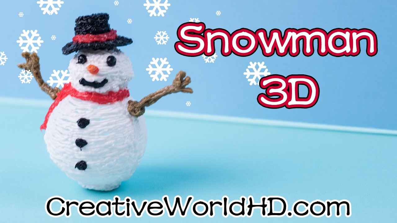 Snowmen christmas ornaments - How To Make Snowman Christmas Ornaments 3d Printing Pen Scribbler Diy Tutorial
