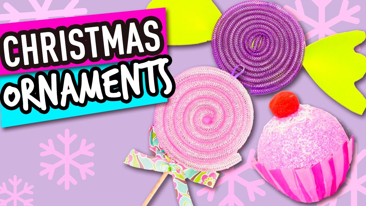 christmas ornaments diy candy christmas decorations decorate the christmas tree the cat crafts
