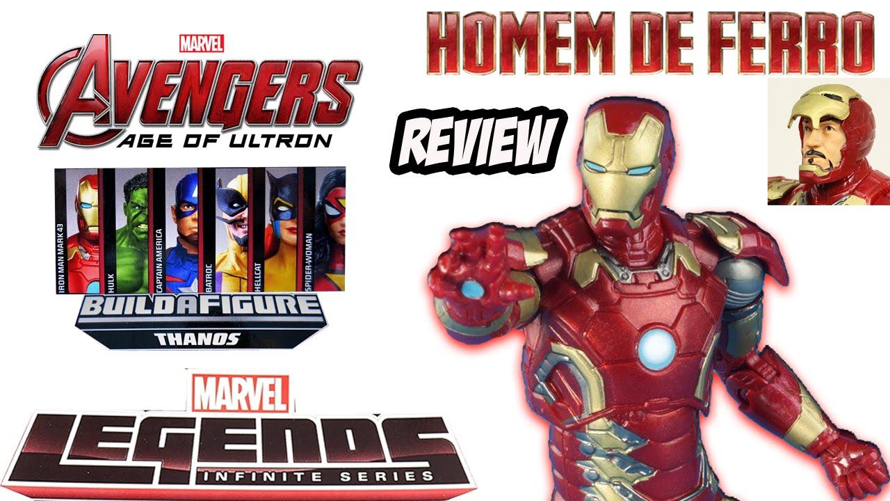 1d94b5e02a2 Review Homem de Ferro Mark 43 Marvel Legends - filme Avengers Age of Ultron  - YouTube