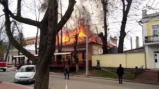 Пожар в Хмельницком.(Сегодня днем в Хмельницком сгорела всеми любимая -