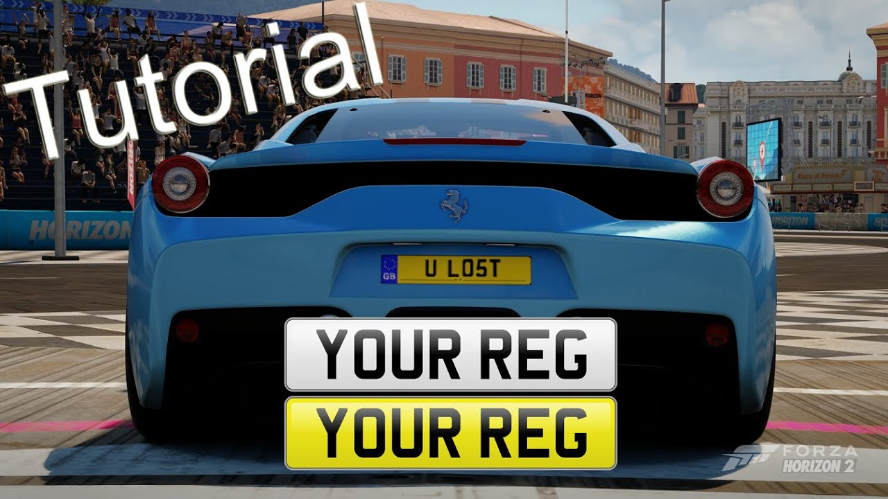 Forza Horizon 2 - LICENSE PLATES: How To Add Plates To Your Car ...