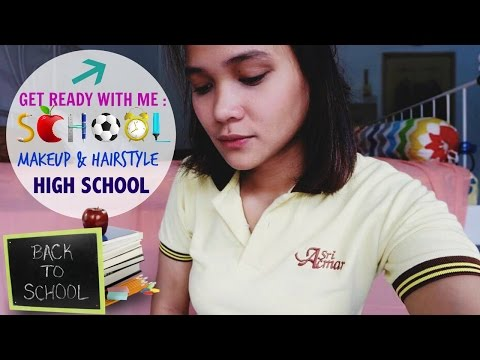 Get Ready With Me : Go To School (Makeup&Hair) / Makeup Buat Sekolah (Bahasa) Dinda Shafay