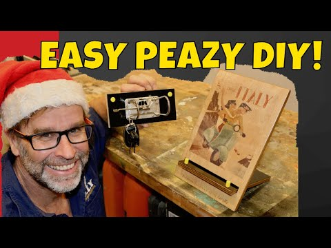 Scrap Wood Christmas Gifts Under 5 Dollars! Amazing iPad Stand and Key Holder!
