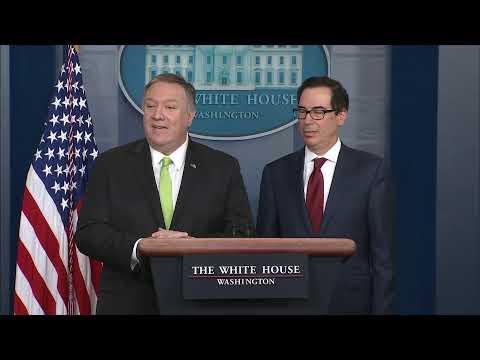 Press Briefing with Secy State Pompeo & Secy Treasury Mnuchin - 10:45 AM