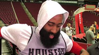 James Harden Interview Before The Game Against GS Warriors / Rockets vs GSW