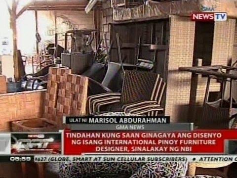 Tindahan Kung Saan Ginagaya Ang Disenyo Ng Isang Intu0027l Pinoy Furniture  Designer, Sinalakay Ng NBI   YouTube