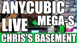 ANYCUBIC Mega-S 3D Printer - Live First Print - Chris's Basement