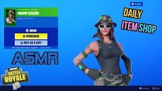 ASMR | Fortnite NEW Swamp Stalker Skin! Item Shop Update 🎮🎧Relaxing Whispering😴💤