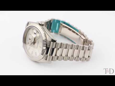 Rolex Day-Date 40mm White Gold Silver/Index 228239 (T4D) watch review