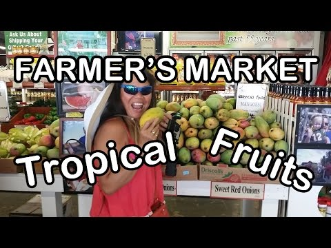 Farmer's Market Tropical Fruits Homestead Miami Florida