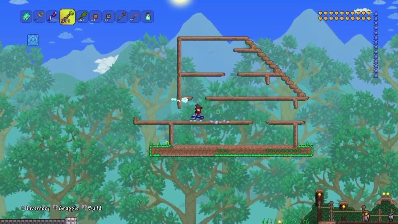 terraria lets build my house terraria console youtube