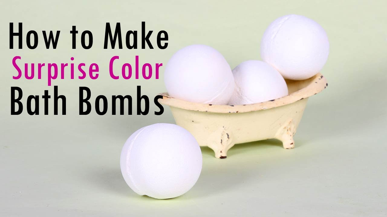 How To Make Surprise Color Bath Bombs Youtube