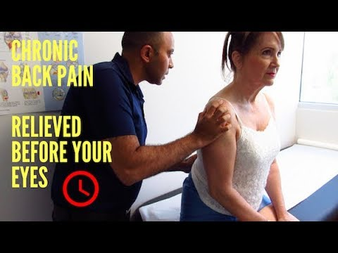 Chronic Lower Back Pain Relieved Before Your Eyes! (REAL RESULTS!!)