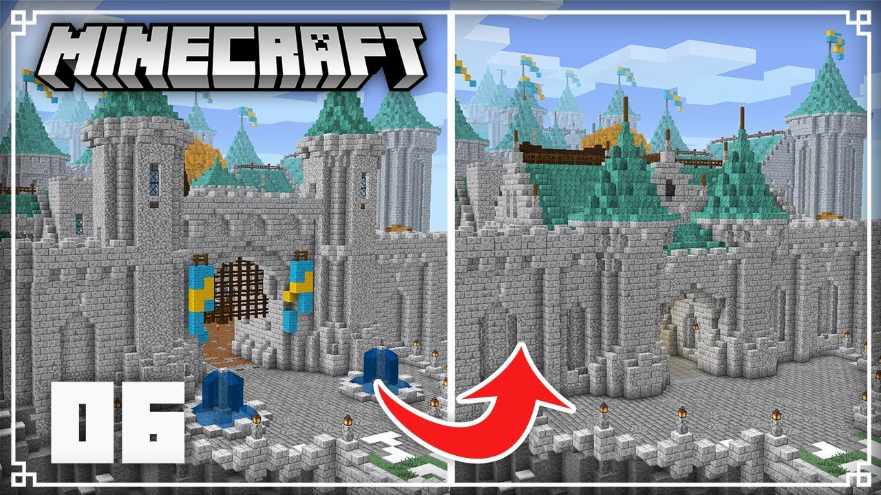 Redoing my Diorite Castle Gatehouse!   Minecraft 1.16 Survival Lets Play
